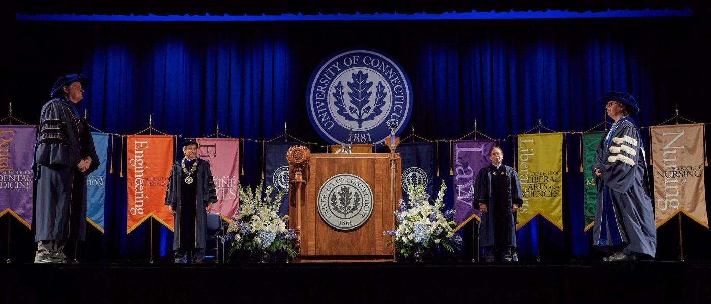Photograph of UConn Virtual Graduation