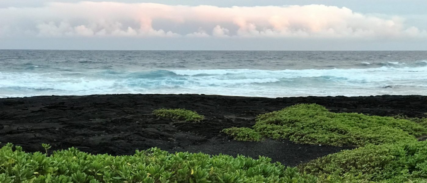 Photograph of black sand beach in Hawai'i